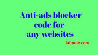 anti-ads blocker code image