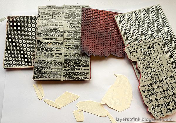 Layers of ink - Mixed Media Bird Tag Tutorial by Anna-Karin Evaldsson.