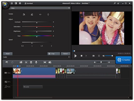 Aimersoft Video Editor Singel Link Download Full Version