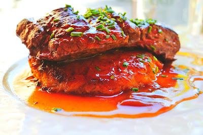 steak in sauce