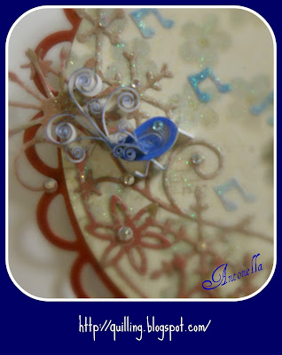 free quilling quilled blue bird tutorial pattern