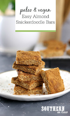 Paleo Almond Snickerdoodle Bars Recipe
