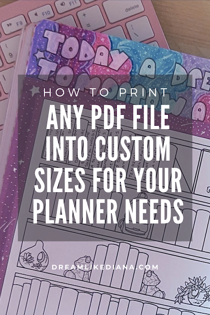 how to print any pdf file into custom sizes