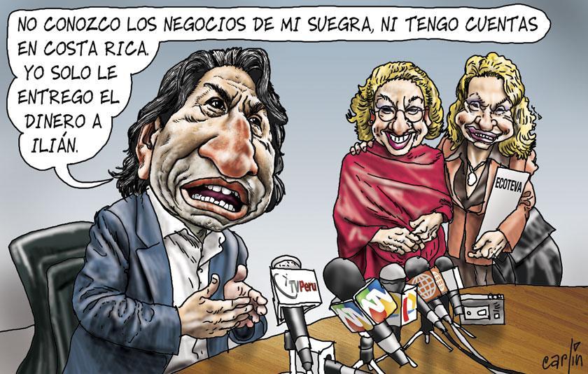 Resultado de imagen para Caricaturas del corrupto Alejandro Toledo
