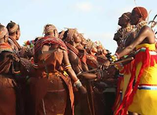 Kenya tribal dance and ritual