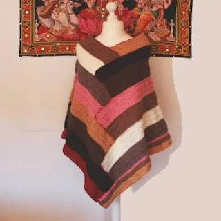 Poncho Escalonado a Crochet