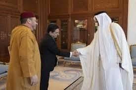 """أمير دولة قطر يستقبل """"فؤاد عالي الهمة"""" مستشار الملك"""