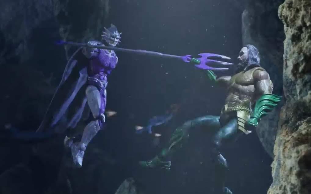 Aquaman and Mera - Stop Motion Adventure : 海の王者の証のトライデントをめぐって、アーサーが義兄弟のオーシャン・マスターと対決する争奪戦を通し、DCコミックスのヒーロー映画「アクアマン」のオモチャを紹介したストップモーション・アニメのショート・フィルム ! !