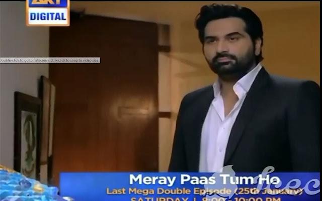 Last episode of Mere pass tum hu Promo Mega episode 25th January-mega double episode mere pass tum hu promo