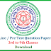 TS SCERT 3RS Programme Pre Test Question Papers Download