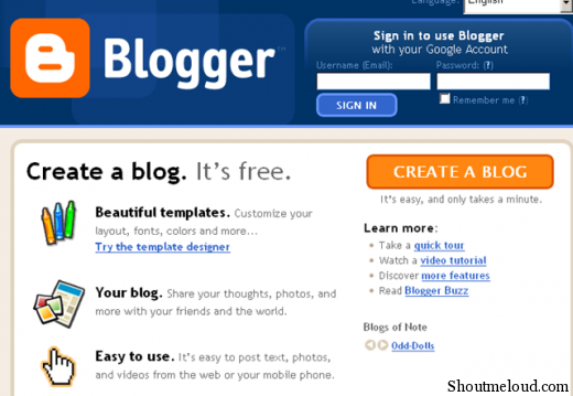 how to make own blog website