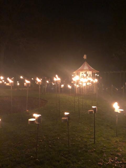 Enchanted Parks: Saltwell Park, Gateshead - fire art