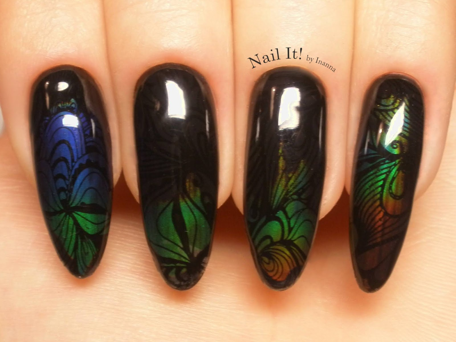 Born Pretty Store Auroras Rainbow Thermal Sensitive Liquide - REVIEW and NAIL ART