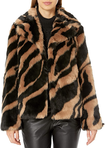 Women's Faux Fur Coats Jackets With Animal Fur Patterns