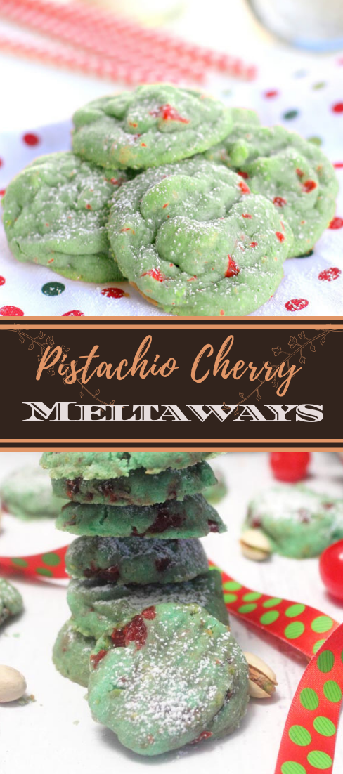 Pistachio Cherry Meltaways #desserts #cakerecipe #chocolate #fingerfood #easy