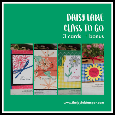 USe Stampin' Up!'s Daisy Lane in The Joyful Stamper's July Class To Go