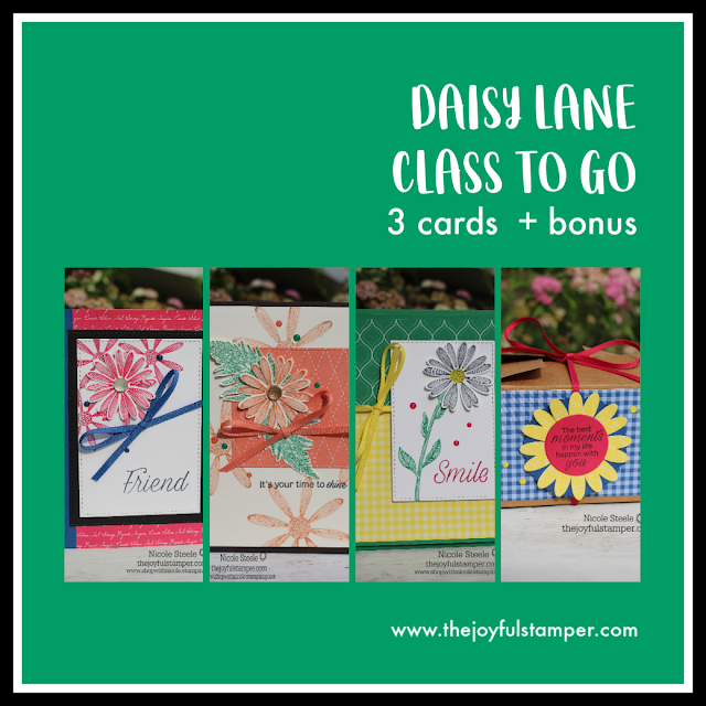 The Joyful Stamper's Stampin' Up! Daisy Lane Class To Go projects