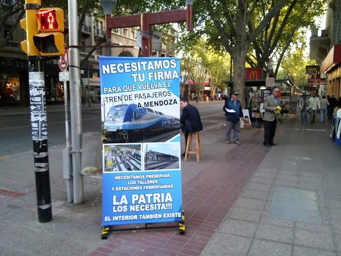 Comenzó la recolección de firmas para el retorno del tren a Mendoza