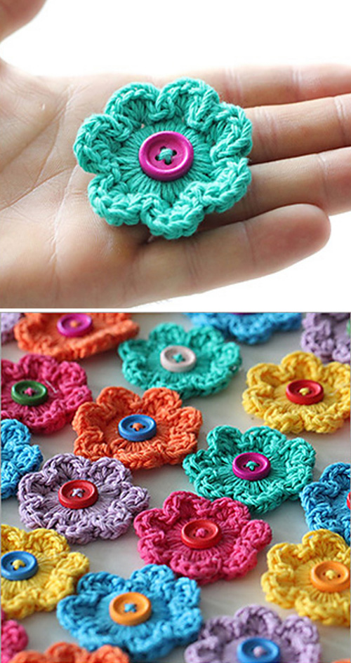 Mini Hoop Flowers - Free Pattern