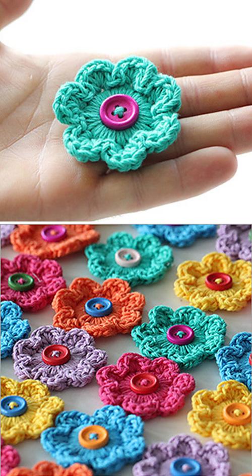 Mini Hoop Flowers - Free Pattern
