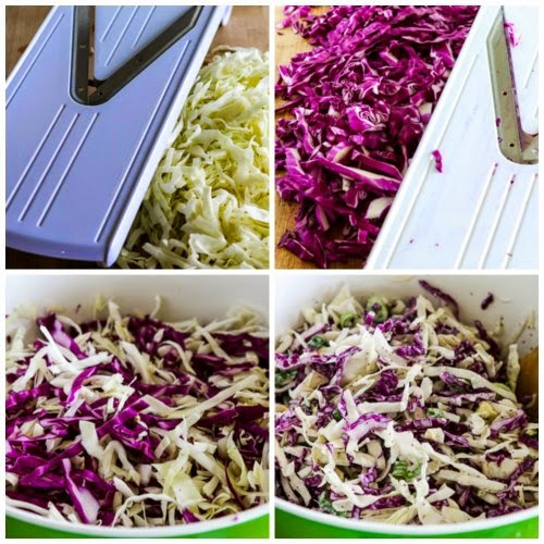 Ridiculously Easy Blue Cheese Coleslaw (Low-Carb, Gluten-Free) found on KalynsKitchen.com