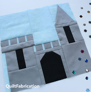 CASTLE-QUILT BLOCK-QUILT PATTERN-FAIRY TALE-HOUSE QUILT BLOCK