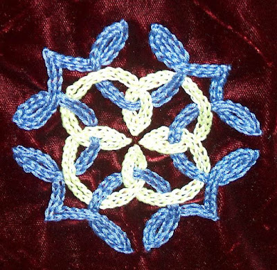 Bridget's chain stitch design