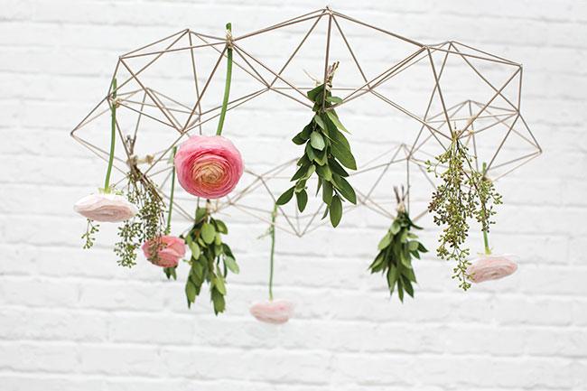 Accent Decor Top 10 Bestsellers - Geo Wire Wreath - versatile modern minimal chandelier