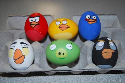 telur dilukis angry bird