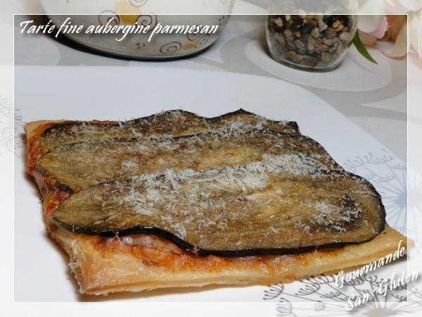 Tarte fine aubergine parmesan, sans gluten