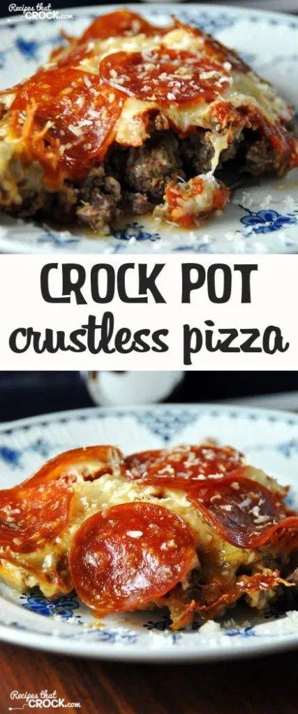 Crock Pot Crustless Pizza - Recipes That Crock!