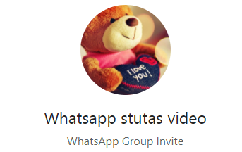 NEW Whatsapp Status video Group For Status Lovers