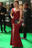Natasha Nebasha in a Leg Slit Sleeveless Stunning Red Gown at IIFA Utsavam Awards 2017 050.JPG