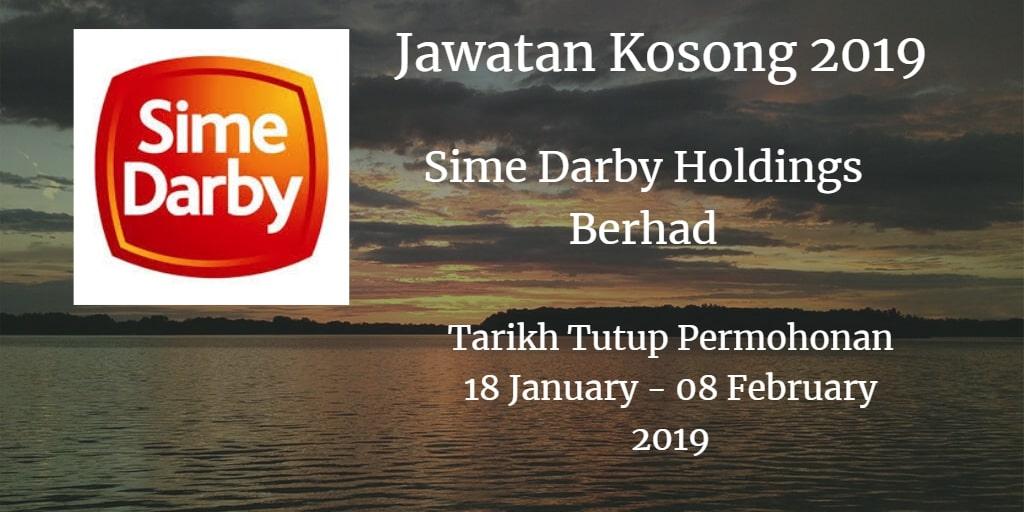 Jawatan Kosong Sime Darby Holdings Berhad 18 January - 08 February 2019