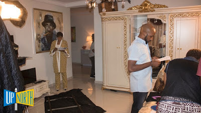 Banky W Lands Another Movie Role As T Boss Joins Him On Set