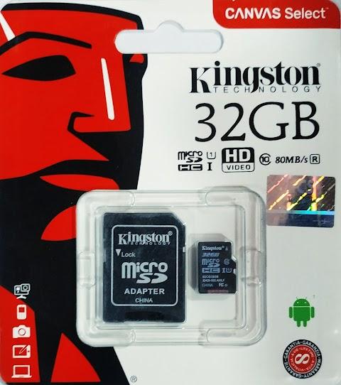كارت ميموري كينجستون سعة 32 جيجا USB3 فقط 80 جنية