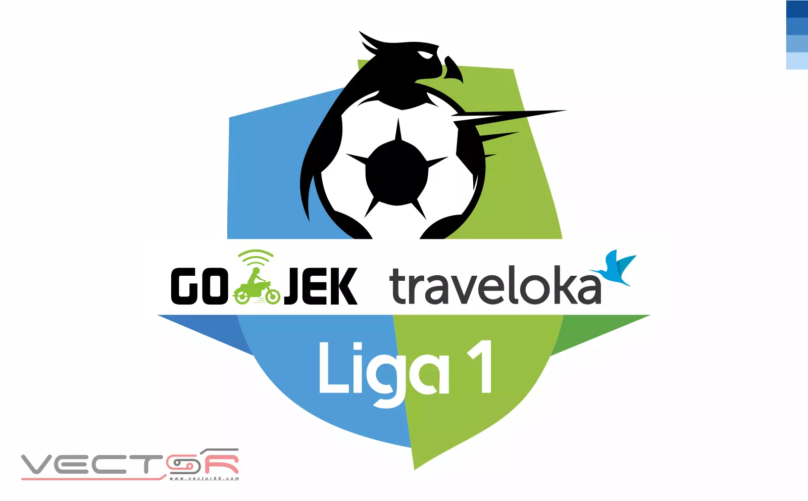 Gojek Traveloka Liga 1 Indonesia Logo - Download Vector File Encapsulated PostScript (.EPS)
