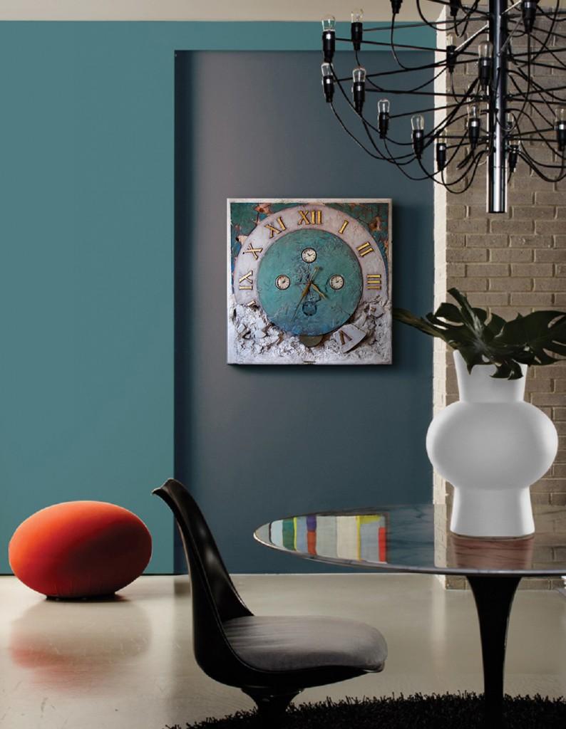 Zegar ozdabiający mieszkanie