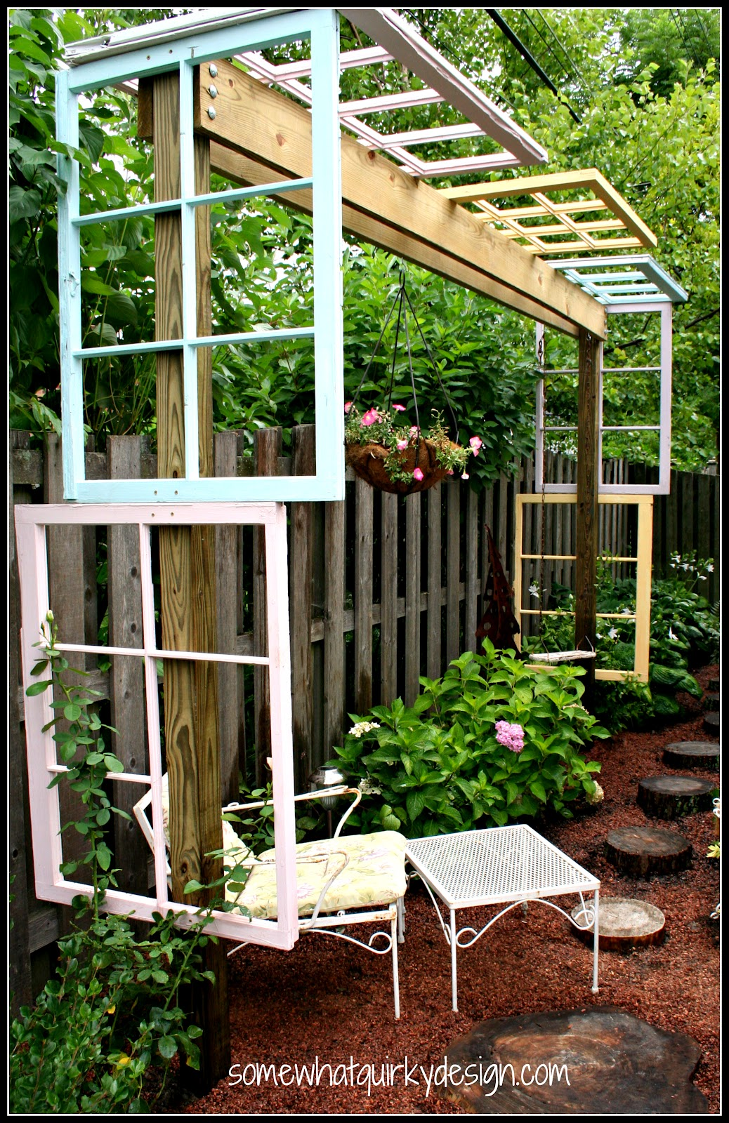 Somewhat Quirky: Building A Modified Pergola With Recycled ...