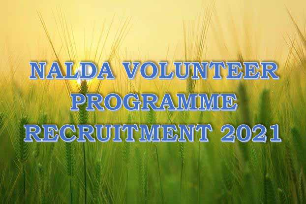 Nalda Volunteer Programme Recruitment 2021 / Application Portal & Process