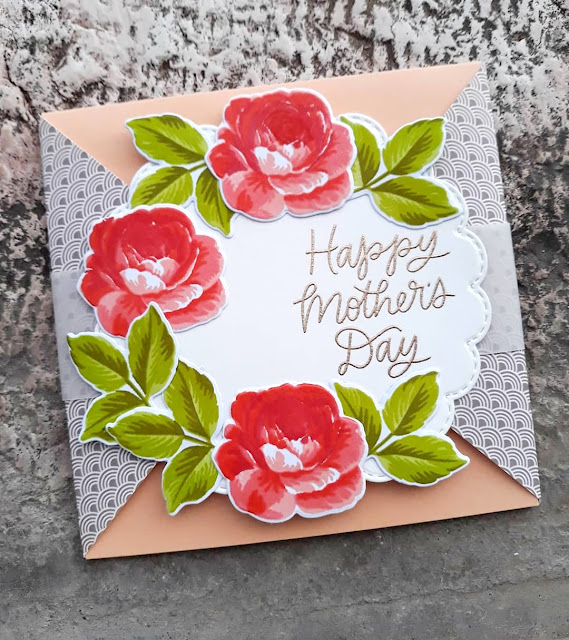 Sunny Studio Stamps: Everything's Rosy Customer Card by Laura Sanfelici