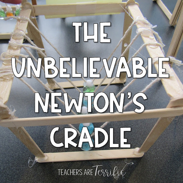 This is the best STEM Challenge for your upper elementary students. Check this post full of tips about trying the resource- Build a Newton's Cradle!