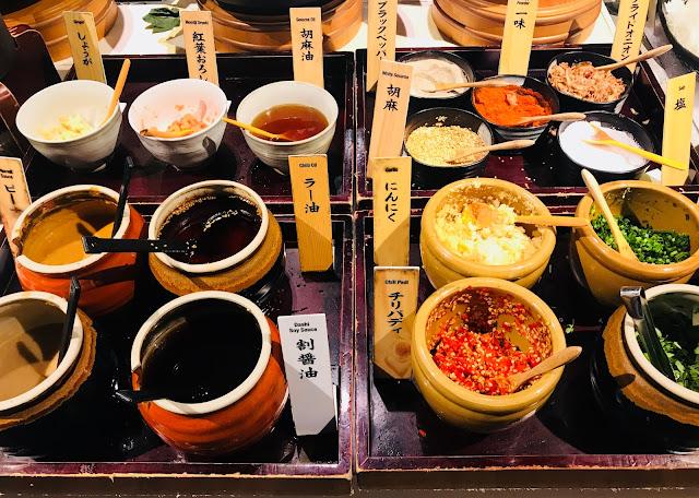 Shabu Sai (Suntec City) - Sauces