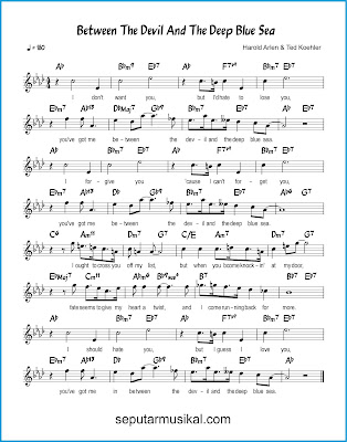 Between the Devil and the Deep Blue Sea chords jazz standar