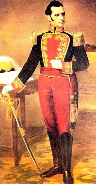 Ilustración de Antonio José de Sucre parado