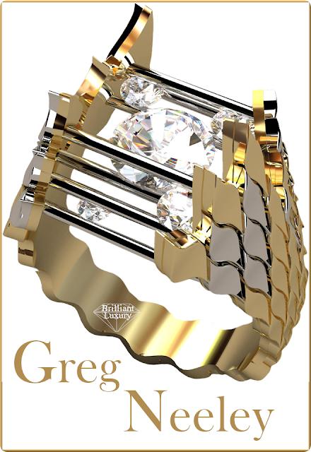 Greg Neeley Caged Fire Diamond Ring #brilliantluxury