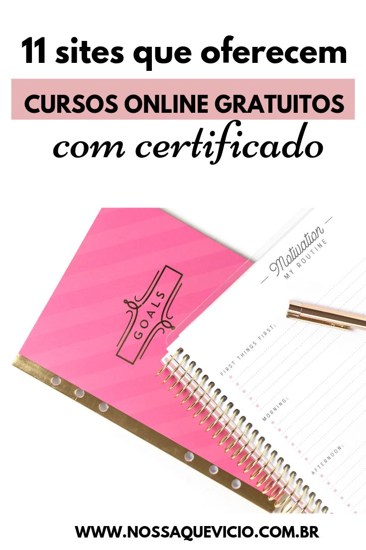 SITES QUE OFERECEM CURSOS ONLINE GRATUITOS COM CERTIFICADO