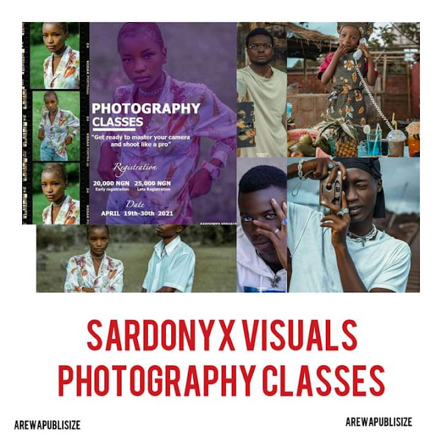 The skill acquisition tagged 'PHOTOGRAPHY CLASSES' , sub theme ; ' get ready to master your   camera like a pro' is scheduled as follows:    COMMENCEMENT DATE: 19th - 30th APRIL 2021  REGISTRATION: EARLY REGISTRATION: 20,000 naira, LATE REGISTRATION: 25,000 naira  VENUE: JOS, PLATEAU STATE NIGERIA