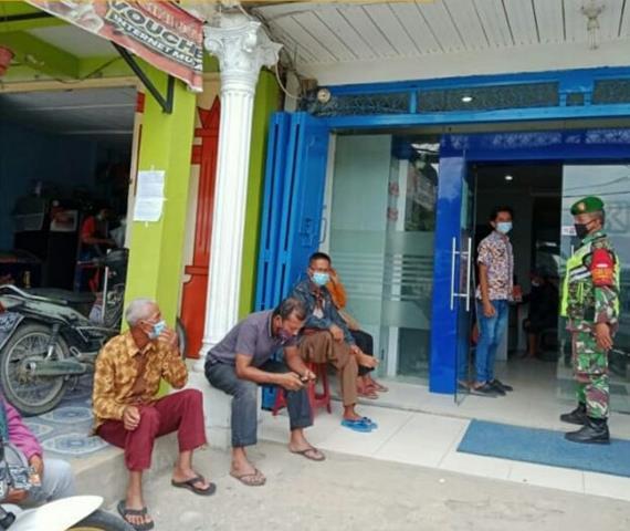 Tegakkan Disiplin Protokol Kesehatan Dilakukan Personel Jajaran Kodim 0207/Simalungun Diwilayah