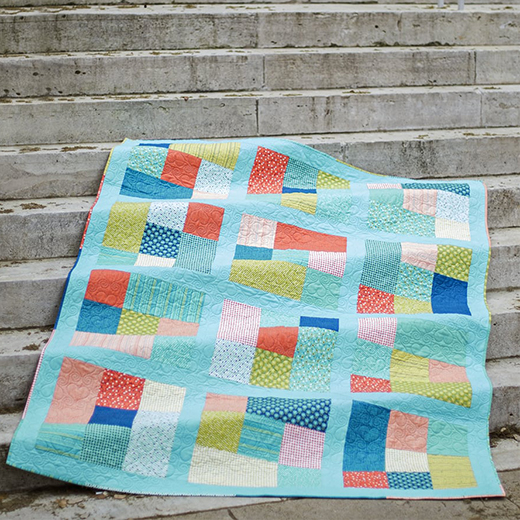Fat Quarter Cubes Quilt designed by Kimberly Jolly from the Fat Quarter Shop